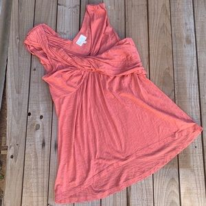 ❤️Anthropologie Deletta Melon colored Draped Top